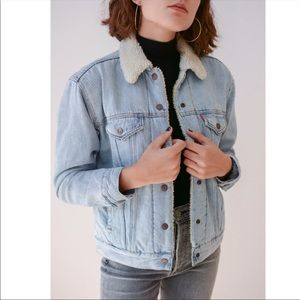 Levi's Ex-Boyfriend Denim Sherpa Trucker Jacket